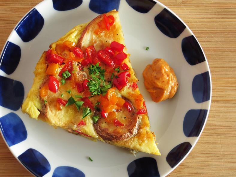 Spanish Tortilla with Spicy Garlic Aioli