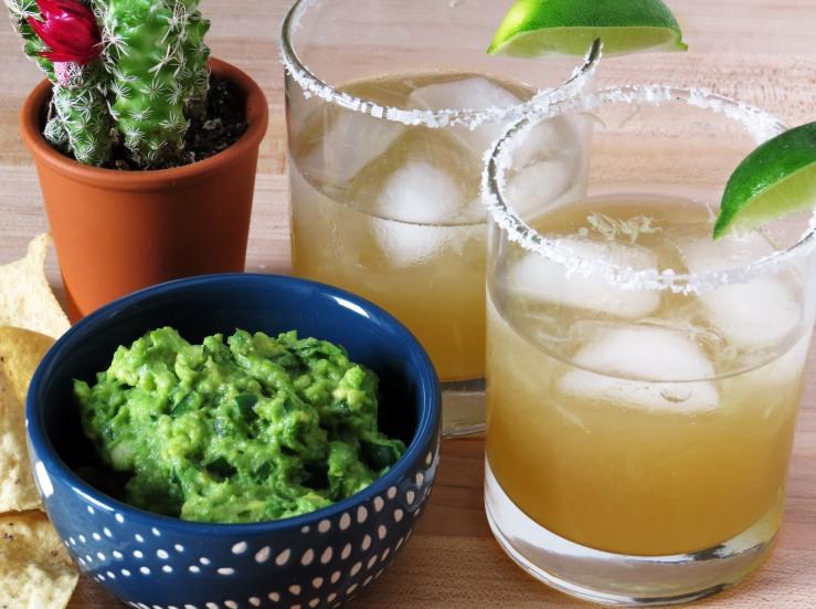 4-Ingredient Guacamole with No-Mix Margaritas