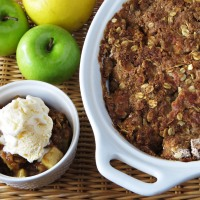 Maple Apple Crisp (or How to Bake Yourself Happy)