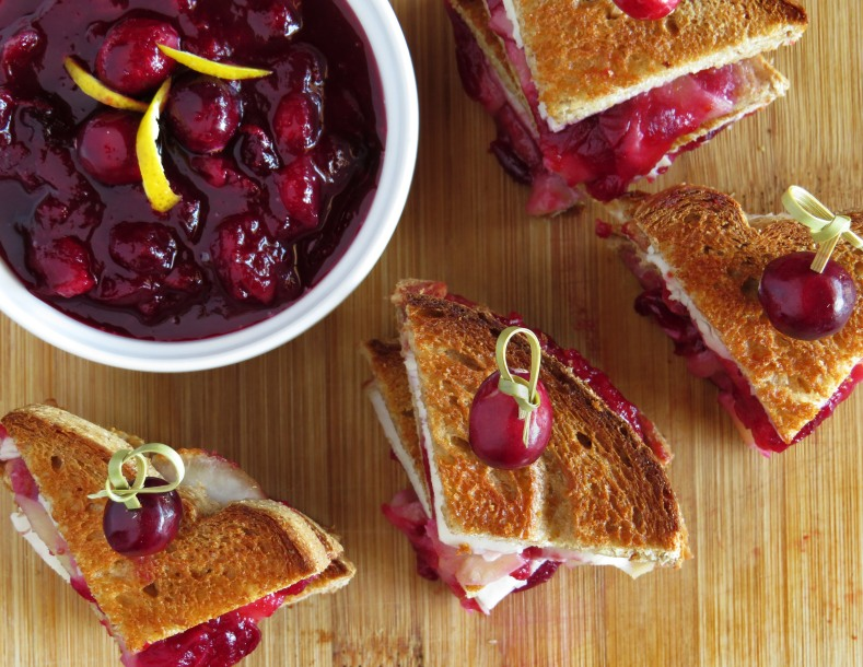 Grilled Turkey Sandwiches with Brie + Homemade Cranberry Sauce