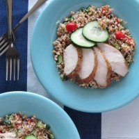Tabbouleh + Chicken with Garlic Parsley Marinade