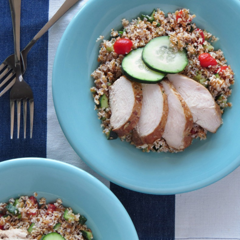 Tabbouleh with Marinated Chicken Breast